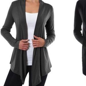 Dark gray lightweight best selling cardigan